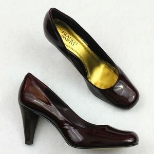 "Franco Sarto Red Dublin Patent Leather 3.5"" Heels"